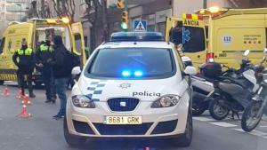 Una imatge de l'accident que s'ha produït aquest matí al centre de Tarragona.