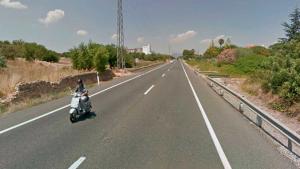 Una moto i un cotxe han col·lidit a la carretera N-240 a Valls