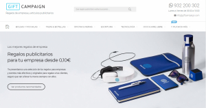 Visió de la home de la web de Gift Campaign