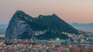 Vista de Peñón de Gibraltar, en el extremo sur de la península