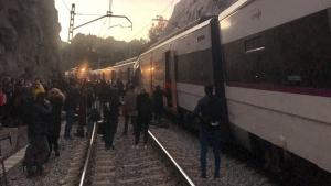 Xoquen dos trens entre Sant Vienç de Castellet i Manresa