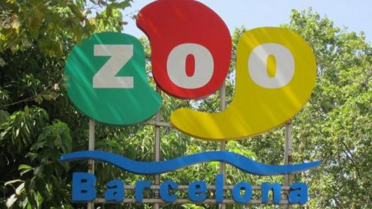 Cartell d'entrada al Zoo de Barcelona