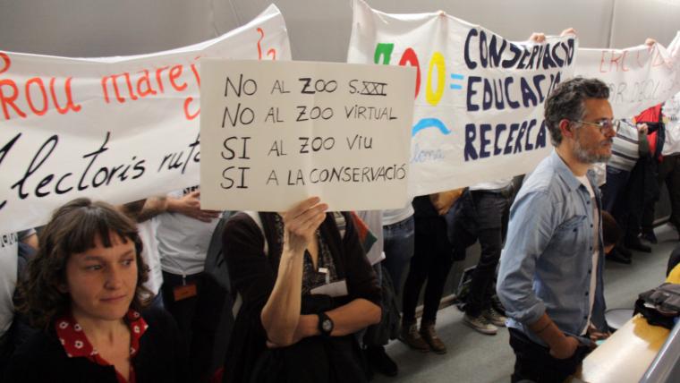 Treballadors del Zoo de Barcelona