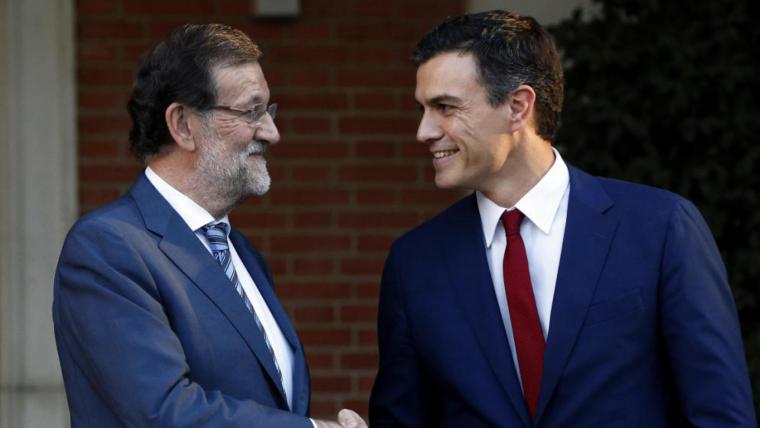 Imatge arxiu de Mariano Rajoy i Pedro Sánchez