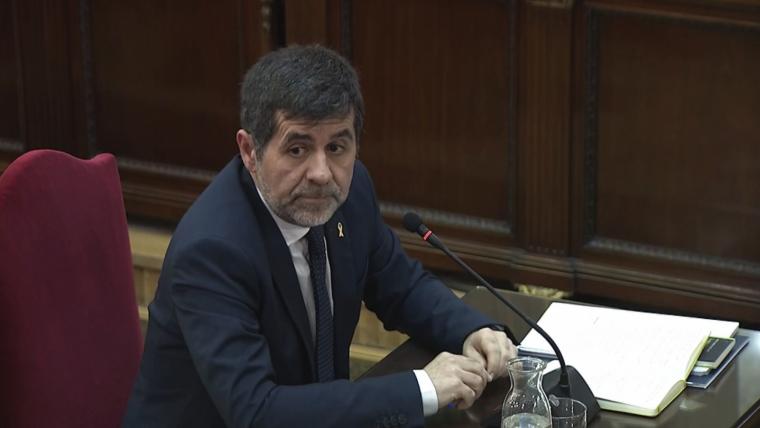 Imatge de Jordi Sànchez durant el judici contra el porcés