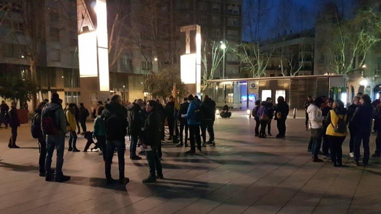 Imatge de la concentració a la plaça de la Llibertat, a Reus.