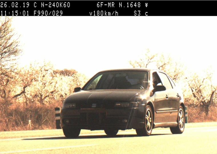 Imatge del vehicle que circulava amb excés de velocitat.