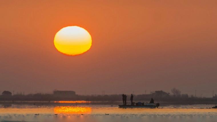 Sortida de sol al Delta de l'Ebre aquest dimarts