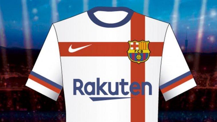 La samarreta blanca amb la creu de Sant Jordi que el Barça ha rebutjat 7d23b8f4f4d