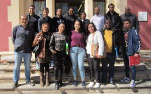 Alumnes del curs de català del CPNL