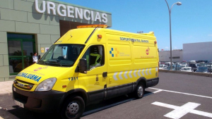 Ambulancia del Servicio de Urgencias Canario