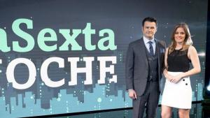 Andrea ROpero e Iñaki López, presentadores de 'laSexta Noche'
