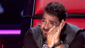 Antonio Orozco no pudo contener las lágrimas