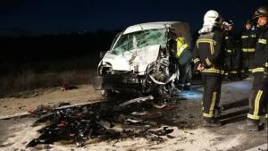 Así ha quedado el vehículo accidentado en la M-311