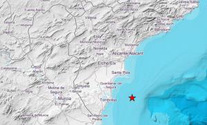 Ayer domingo se registró un pequeño terremoto de magnitud 4 frente las costas alicantinas