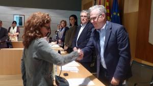 Carme Gasull (ERC) pren possessió com a nova regidora a l'Ajuntament de Salou