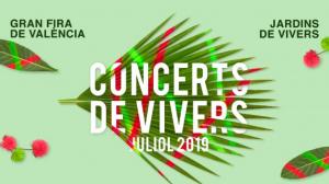 Cartell dels concerts al Jardí de Vivers