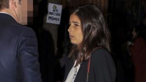 Cayetana Rivera realmente triste en la misa de Rafa Serna