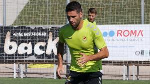 César Arzo, durant un entrenament del Nàstic de Tarragona.