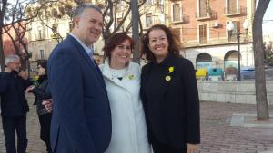 D'esquerra a dreta, Pau Ricomà, alcaldable d'ERC per Tarragona; Mònica Alabart, l'anterior número dos dels republicans; i el nou fitxatge dels independentistes, Laura Castel.