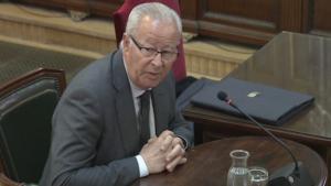 El cap de la Policia Nacional a Catalunya, Sebastián Trapote, aquest dijous al matí en la seva declaració al Tribunal Suprem.