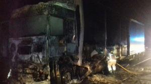 El conductor del camió incendiat a Torrelavit va resultar ferit de poca gravetat