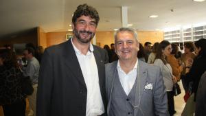 El gerent de la Regió Sanitària de Tarragona, Ramon Descarrega, amb el responsable de l'àmbit de planificació, Xabier Ansa