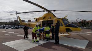 Helicóptero de rescate del SAMUR Madrid