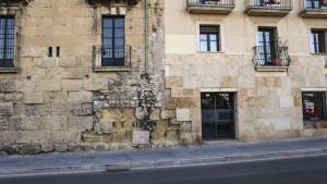 El passeig de Sant Antoni és el punt on la muralla està més afectada a causa de la colonització i la sal del mar.