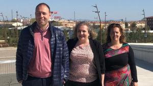 El PSC de Tarragona ha presentat els perfils independents de la seva llista electoral. D'esquerra a dreta, Álvarez, Ramos i Berrio