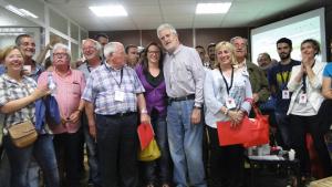 El PSC del Vendrell, celebrant el triomf a les eleccions municipals del 2015.