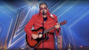 El reusenc Ariel Santamaria, durant la seva actuació a Got Talent
