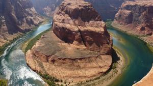 El riu Colorado a la Corba de la Ferradura, a Page, Arizona, USA