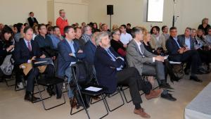 Els assistents al primer Fòrum Econòmic de Tortosa-Terres de l'Ebre al Museu de Tortosa.