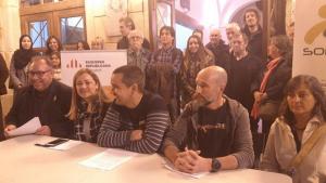 ERC i Som Poble, presentant la coalició per a les municipals del Vendrell.