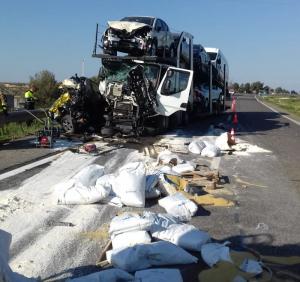 Accident a l'A-2, a Alcarràs.