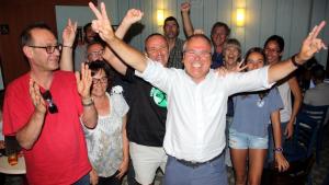 Fèlix Alonso i altres membres de la llista d'EPC a Tarragona.
