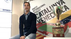 Gerard López, durant la presentació del Catalunya-Veneçuela.