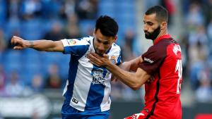 Hernán Pérez i Gonalons, durant l'Espanyol-Sevilla.