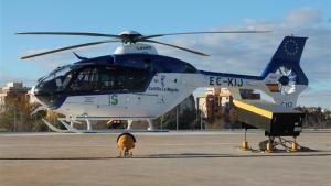 Imagen de archivo de un helicóptero medicalizado del Servicio de Salud de Castilla-La Mancha
