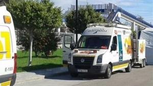 Imagen de archivo de varias ambulancias del servicio de emergencias médicas de Andalucía