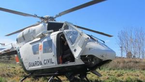 Imagen de archivo del helicóptero de la Guardia Civil.