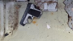 Imagen de la pistola utilizada por los secuestradores