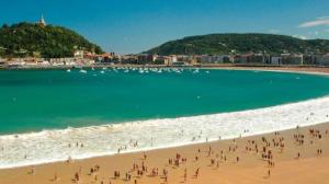 Imagen de la playa de La Concha, País Vasco