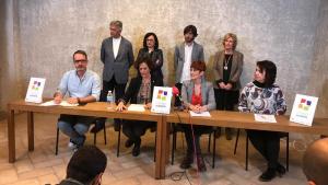 Imagen de la rueda de prensa sobre la candidatura conjunta