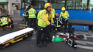 Imagen de los servicios de emergencia en el lugar del accidente