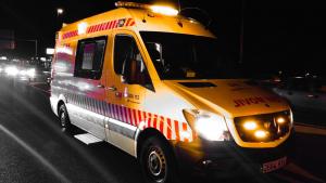 Imagen del accidente ocasionado en Fuenlabrada