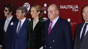 Imagen del rey Juan Carlos con un moratón en el ojo