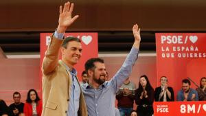 Imagen durante el mitin de Pedro Sánchez en valladolid