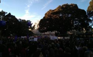 Imatge d'arxiu de la manifestació del 8M